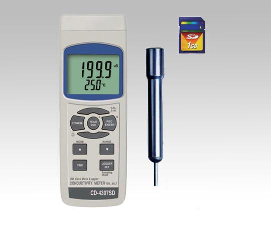 データロガー導電率計 CD-4307SD 【アズワン】【02P06Aug16】