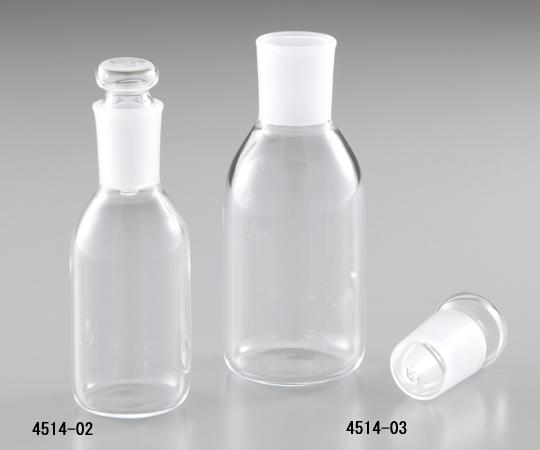 石英硝子共通摺合せ瓶平栓付4514-03 【アズワン】