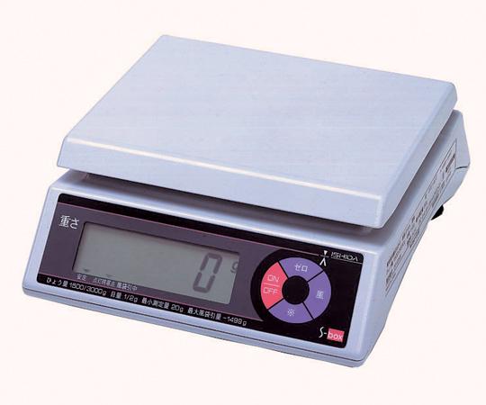 上皿型重量はかり S-box 3kg 【アズワン】