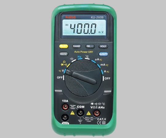 デジタルマルチメーター KU-2608 【アズワン】