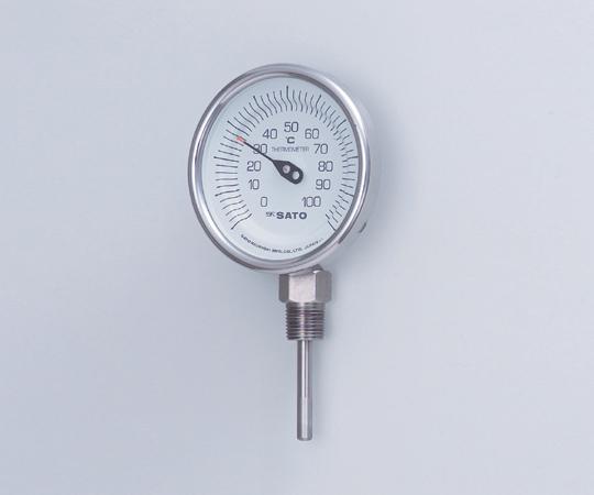 バイメタル式温度計BMS-90S 200 【アズワン】