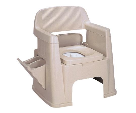 【専門家による1年間の無料介護相談付】【ナビス】ポータブルトイレ 背もたれ型