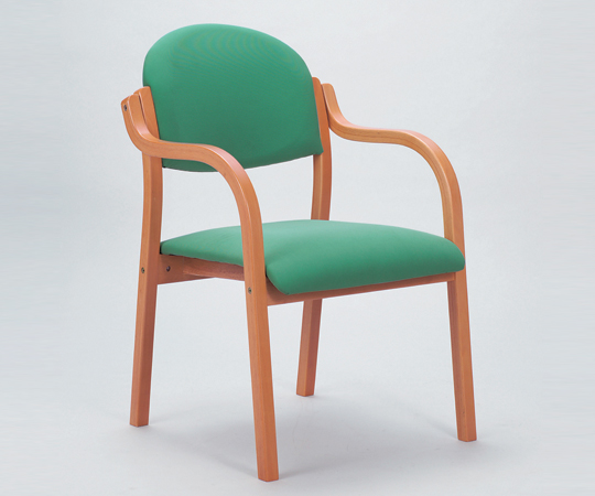 【送料無料】【ナビス】 木製椅子 MW-320PGNグリーン 【大型品】