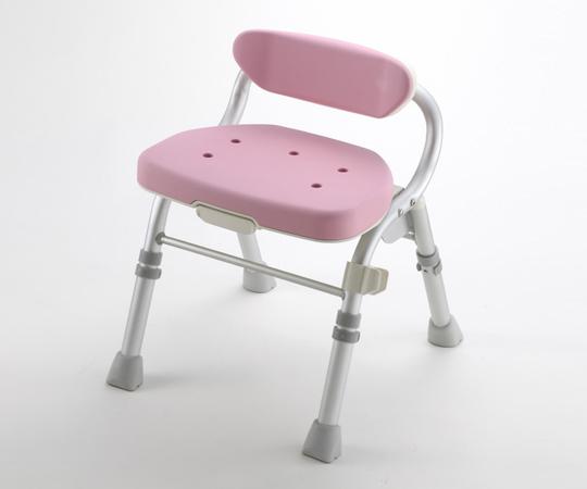 【無料健康相談 対象製品】【ナビス】折畳シャワーチェアM型背付L ピンク 【fsp2124-6m】【02P06Aug16】