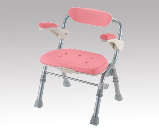 【無料健康相談 対象製品】【ナビス】折畳シャワーチェアJ型肘掛付 ピンク 【fsp2124-6m】【02P06Aug16】