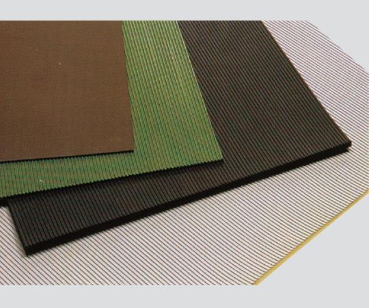 【アズワン】 耐電ゴム板平布目付-茶-6