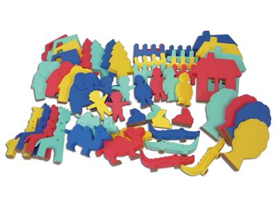 【送料無料】【無料健康相談 対象製品】くっつきテープの動物ランド 「床用」【安心の知育玩具 一歩(はじめ)社製】