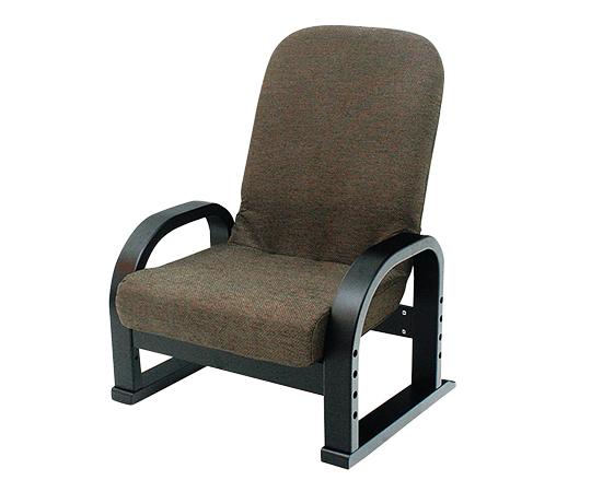 リクライニング式座椅子 ブラウン