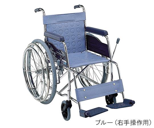 ワンハンドドライブ(スチール製片手自走式) ブルー 左手用 420mm
