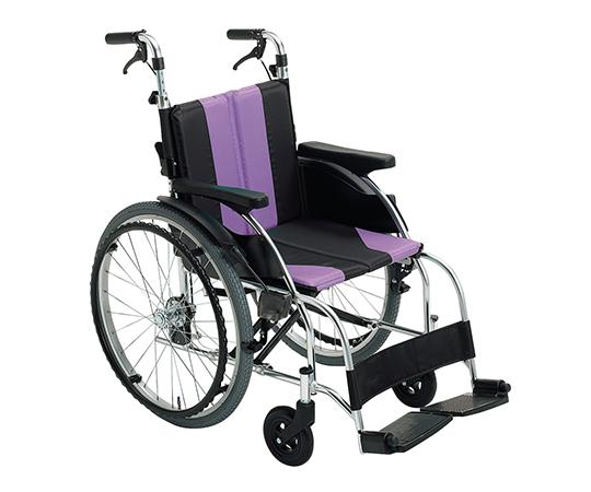 車椅子(アップライト) パープル 自走式