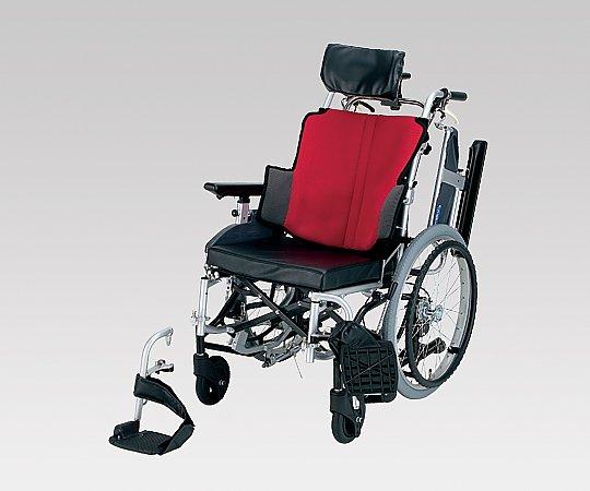 ティルト車椅子 (自走式/座幅42cm/ワインレッド)