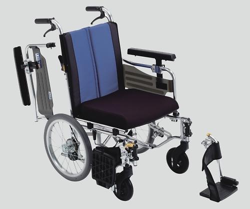 ウイングスイングアウト車椅子(アルミ製) 介助式