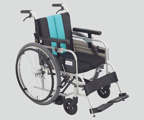 ノンバックブレーキ車椅子(アルミ製) MBY-41B エメラルド 低床