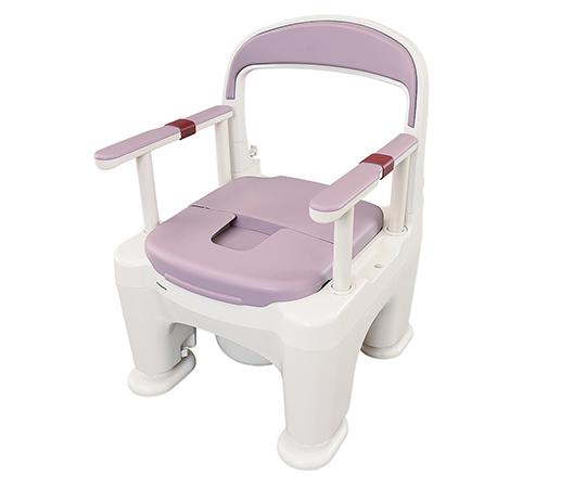 ポータブルトイレ ラフィーネ(座楽) プラスチック便座 ミスティパープル