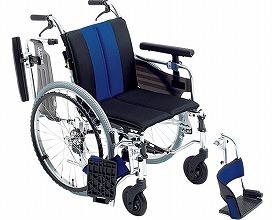 【送料無料】セミモジュール車いす MYU4-22 座幅40 ブルー(W747) ミキ 【非課税】 W0847【02P06Aug16】