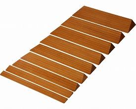 【送料無料】木製 滑りにくいスロープ 奥行21 ×高さ5.9×長さ80cm S-59 ダーク バリアフリー静岡 R0356【02P06Aug16】