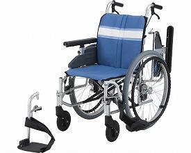 【送料無料】モジュール車いす 自走式 NA-3DX 座幅40 ブルー 日進医療器 【非課税】 W1252【02P06Aug16】