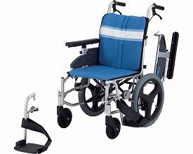 【送料無料】モジュール車いす 介助式 NA-3DX 座幅42 ブルー 日進医療器 【非課税】 W1593【02P06Aug16】