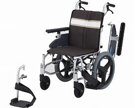 【送料無料】モジュール車いす 介助式 NA-3DX 座幅42 ブラウン 日進医療器 【非課税】 W1593【02P06Aug16】