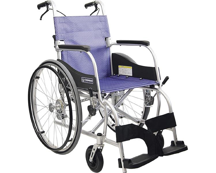 【送料無料】自走用車いす ふわりす  KF22-40SB 97 すみれパープル カワムラサイクル 【非課税】 W1495