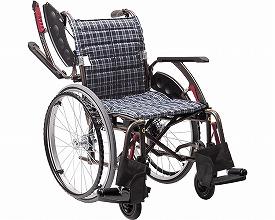 【送料無料】次世代型標準自走式車いす ウェイビットプラス ソフトタイヤ WAP22-42S 濃紺チェック カワムラサイクル 【非課税】 W1739【02P06Aug16】