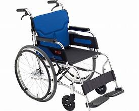 【送料無料】自走式車いす カル~ン M-43RK ペールブルー ミキ 【非課税】 W1728【02P06Aug16】