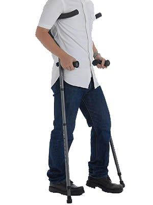 【送料無料】折りたたみ松葉杖 ミレニアル・プロ トール  2本組 (17-1-2 チャコールグレー)【プロト・ワン】 W1534