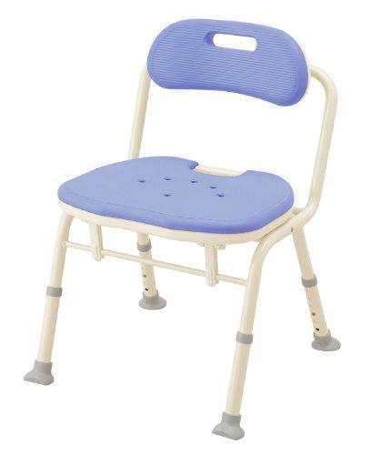 【送料無料】折りたたみシャワーベンチ IN-S (座面角型) (536-340 ブルー)【アロン化成】 S0443