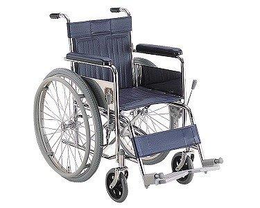 【送料無料】スチール製自走用車いす (KR801N  座幅42)【カワムラサイクル】 W0062 ※欠品中:納期未定※