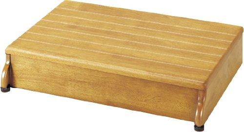 【送料無料】安寿 木製玄関台 1段タイプ 60W-40-1段 (535-582 ライトブラウン)【アロン化成】 R0007