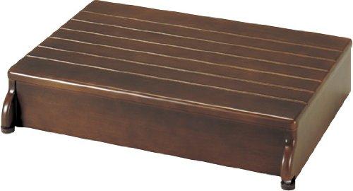【送料無料】安寿 木製玄関台 1段タイプ 60W-40-1段 (535-580 ブラウン)【アロン化成】 R0007