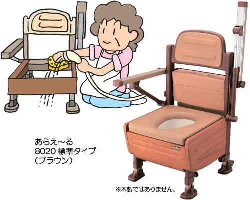 【送料無料】あらえ~る   ホット便座タイプ (8021 ブラウン)【ウチヱ】 T0456