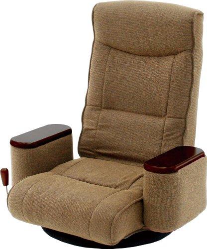 【送料無料】ボックス肘付き回転座椅子 (83-989 ブラウン)【ヤマソロ】 H0630【02P06Aug16】