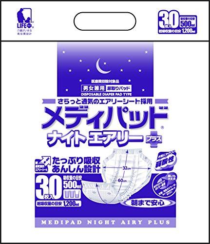 <ロット>メディパッドナイトエアリー  プラス (2596  30枚) 4個【近澤製紙所】 T0788 4個/ケース