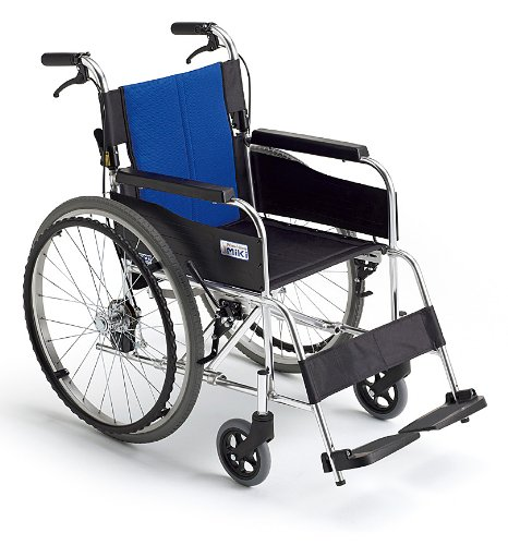 【送料無料】アルミ自走車いす BAL-1 (ブルー(A-2)ナイロン)【ミキ】 W1748