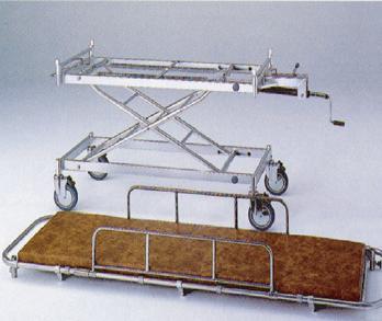 【無料健康相談付】アルミ軽量ストレッチャー AL-UD-3 トータルロック機構付