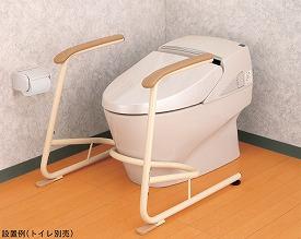 【送料無料】【専門家による1年間の無料介護相談付】トイレ用立ち上がり補助フレームSUS-R (533-078) 【fsp2124-6m】【02P06Aug16】