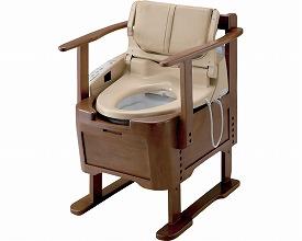 【送料無料】【専門家による1年間の無料介護相談付】ウォシュレット付ポータブルトイレ (リモコンなし) (EWR290)