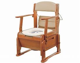 【送料無料】【専門家による1年間の無料介護相談付】家具調トイレ座楽 KC-N型 ソフト便座タイプ (VAL20302)
