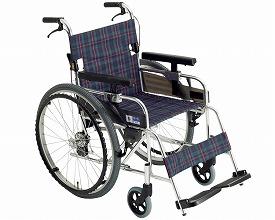 【送料無料】【無料健康相談 対象製品】ロックンブレーキ付車椅子 (MX-43JD) 【fsp2124-6m】【02P06Aug16】