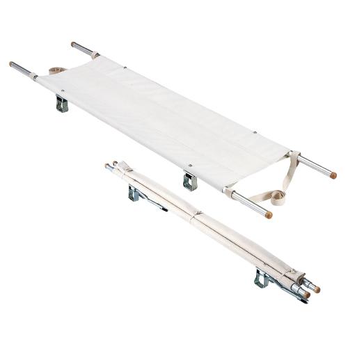 【送料無料】【無料健康相談付】二ツ折担架(伸縮式)  スチール8.5kg