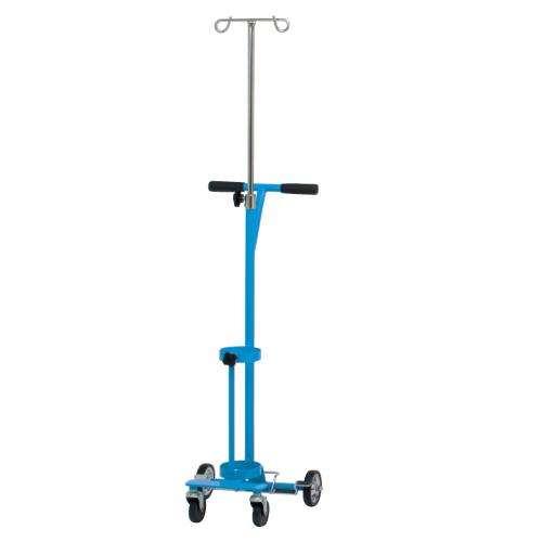 【送料無料】【無料健康相談 対象製品】カラーボンベカート(ガートル架・ストッパー付) ブルー 500L(1本用)【02P06Aug16】