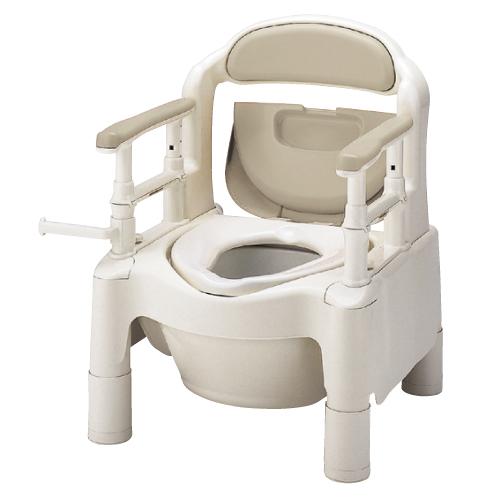 【送料無料】【専門家による1年間の無料介護相談付】ポータブルトイレ ベージュ 快適脱臭 FX-CPSD【02P06Aug16】