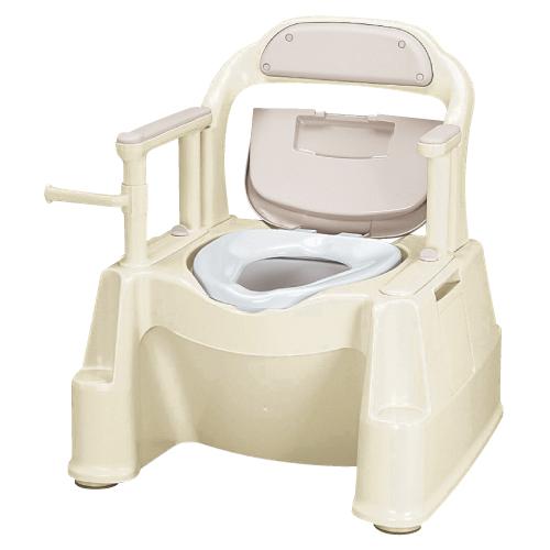 【送料無料】【専門家による1年間の無料介護相談付】ポータブルトイレ  短肘掛けタイプ FX-2【02P06Aug16】