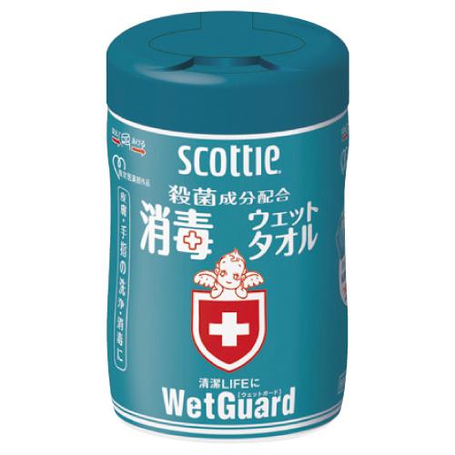 スコッティ消毒ウェットタオル ウェットガード  詰替用70枚×24袋