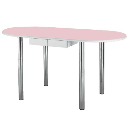 【送料無料】【無料健康相談 対象製品】ナーステーブル(楕円型) アイボリー W2400×D900×H900mm NAS-2490R