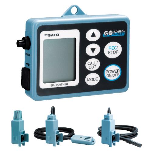 【送料無料】【無料健康相談 対象製品】データロガー記憶計(温湿度タイプ)  乾電池・ACアダプタ両電源型 SK-L200THIIαD