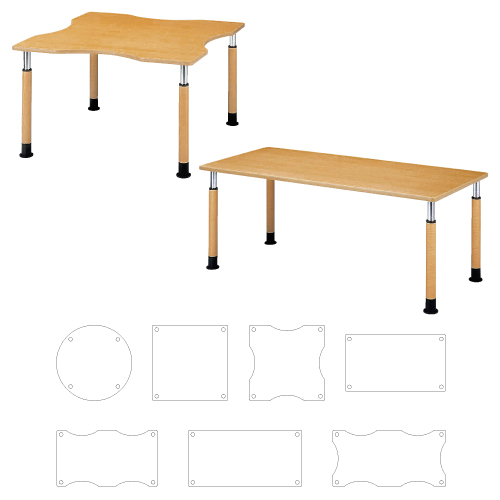 【送料無料】【無料健康相談付】昇降式テーブル  W1200×D1200×H600~800mm FPS-1212K