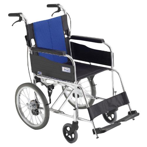 【送料無料】【無料健康相談付】車いす(アルミ製)介助用  背折れ BAL-2