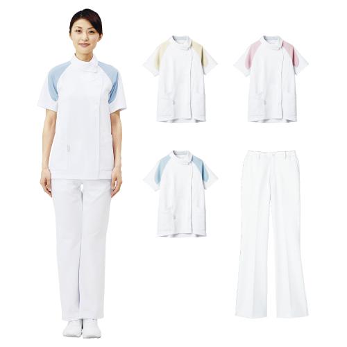【送料無料】レディスジャケット M ホワイト×ピンク LKM001-0119